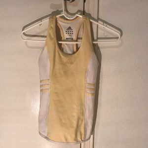 Light yellow adidas tank top!